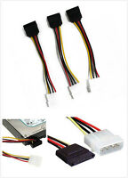 3Pcs 4-Pin IDE Molex to 15-Pin Serial ATA SATA Hard Drive Power Adapter CableS!