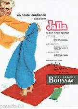 PUBLICITE ADVERTISING 016  1955  JALLA  serviettes de bain Boussac