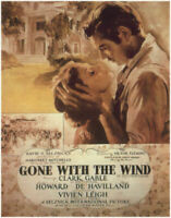 Gone With the Wind Movie Poster DIGITAL Counted Cross Stitch Pattern Chart
