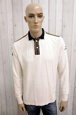 NAPAPIJRI Uomo Taglia XL Polo Cotone Man Casual Maglietta Maglia Manica Lunga