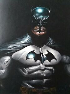BATMAN Oil On Canvas Paint Original Signed Art Handmade Comics