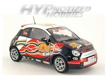NOREV 1:18 2008 FIAT 500 WROOM KIMI RAIKKONEN LIMITED DIE-CAST BLACK 187733
