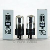 Tests NOS Matched Pair RCA USA 6J5GT Black Plate D Get TALL Vacuum Tubes