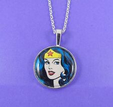 justice league cosplay stars usa amazon Wonder Woman Necklace dc comic hero punk