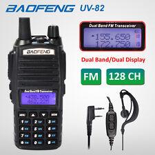 2018 BAOFENG UV-82 Black UHF VHF Ham Dual Band 137-174/400-520MHz FM 2-Way Radio