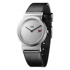 Braun Design AW50 klassische Herren Armbanduhr mit Lederband, Neu+OVP, 66599