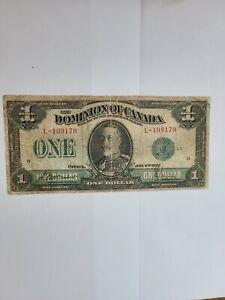 CANADA, Dominion of Canada, 1 Dollar 1923, green seal, Pick # 33 d