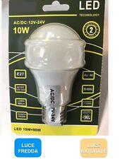 LAMPADINA LED 12V - 24V E27 Lampada Goccia LUCE NATURALE  FREDDA 4000K 6000K