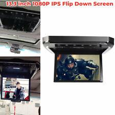 "13.3"" Hd Car Roof Mount Mp5 Monitor Player Flip Down Overhead Video Fm Radio"