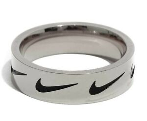 NIKE RING SILVER | Vintage Nike Ring Made From Silver Coated Stainless Steel