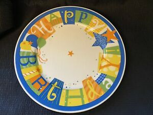 "Vintage 2004 HALLMARK 10"" Happy Birthday Plate"