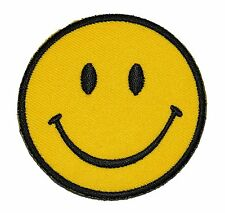Funny Smiley Smile Happy Yellow Face DIY Applique Embroidered Sew Iron on Patch