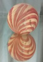 NEAR MINT! Vintage St. Clair Elwood PEPPERMINT Pink White Swirl Paperweight