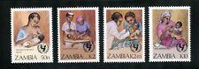 Zambia Complete MNH Set #440-443 UN Child Survival Program Medicine Stamps