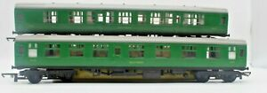 Tri-ang Southern Railways Corridor Composite Coach 5015 Green X2 Carriages