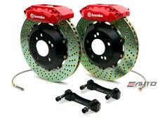 Brembo Rear GT Big Brake 4Pot Caliper Red 328x28 Drill Disc 911 964 C2 C4 89-94