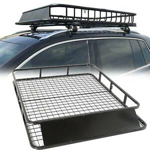 Universal Roof Basket Steel Cargo Luggage Tray Folding Carrier Rack 122x102cm