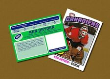 Ken Dryden - Montreal Canadiens - Custom Hockey Card  - 1975-76