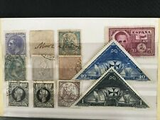 SPAIN STAMP DEALER'S SMALL STOCK ACCUMULATION MID VALUE SCARCE 23 MINT & USED