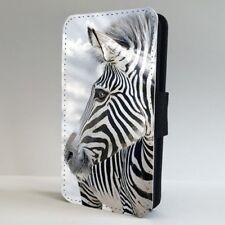 Cebra Animal De Rayas Naturaleza Salvaje Teléfono Abatible Estuche Cubierta para iPhone Samsung