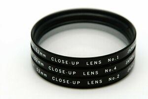 Vivitar 52mm Close Up Filter Set Makro Linsen CU No. +1 +2 +4