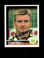 Andrzej Juskowiak VFL Wolfsburg Panini Sammelbild 2001 Original Signie+ A 144405