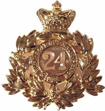 24th Regiment Metal Pith Badge Replica Helmet Army Plate Zulu War Rorkes Drift