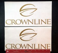 """2 (TWO)   CROWNLINE  Boats Marine Decals 12"""" - NEW"""