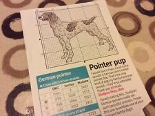 German Short Haired Pointer Dog cross stitch chart Only  (M)