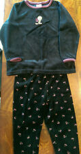 Vintage WARNERBROS TWEETY BIRD Velour Black Pants & Shirt Girls Size Kids Small