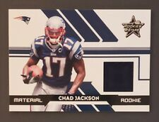 2006 Leaf R&S, Chad Jackson, New England Patriots RC, Rookie Jersey, #d 248/799
