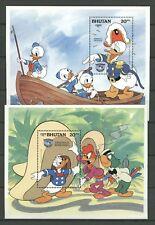 Walt Disney, Donald, Schiff, Ship - Bhutan - Bl.113-114 ** MNH 1984