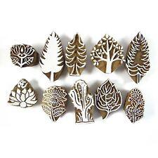 Tampons bois indien Lot de 10 Pcs timbre main imploré impression Textile cachet