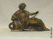 Antique Ansonia Daphine clock topper statue cast metal spelter c.1904