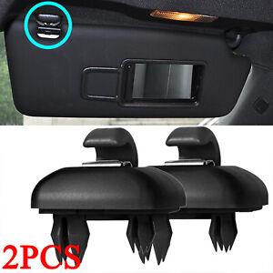 2x Sun Visor Clip Buckle for Audi A3 A4 A5 Q3 Q5 A7 B6/B7 B8 S4 S5 8U0857562A