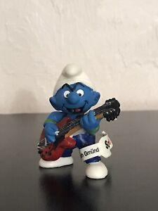 Smurfs 20449 Lead Guitar Smurf Rare Vintage Figure Music Band Figurine Leg Tag