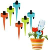12x Irrigation Garden Self Watering Bottle Spikes Automatic Drip Dripper M0I4
