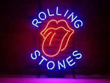 "New Rolling Stones Neon Light Sign 17""x14"" Beer Bar Man Cave Artwork Glass"
