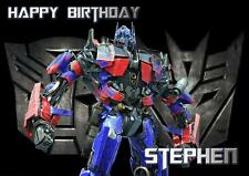 PERSONALISED OPTIMUS PRIME TRANSFORMERS BIRTHDAY ANY OCCASION CARD