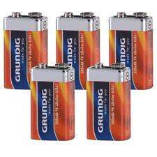 5 x 9V BLOCK Batterie GRUNDIG 6LR61 Alkaline 500 mAh für Rauchmelder E Block 9 V