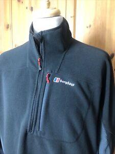 525  Berghaus Fleece Jacket Black Mens XXL 2XL  Zip Neck