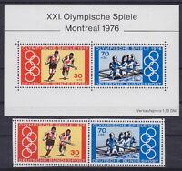 Bund Mi Nr. 888 - 889 u. Block 12 **, Olympiade Montreal 1976, postfrisch, MNH