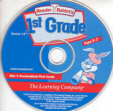 Reader Rabbit Personalized 1ST GRADE Kids Educational Ages 5-7 Windows NEW CD