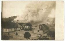 Military Camp Base Explosion Fire RPPC Real Photo Postcard c.1908