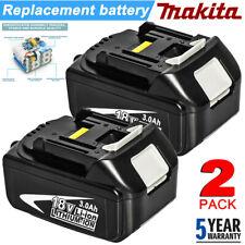 2X For Makita BL1830 18V LXT Lithium BL1840 Battery 2 Pack BL1815 BL1845 18 Volt