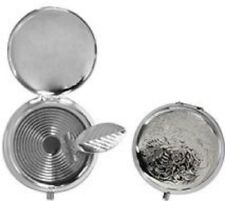 2 X Mini Portable Pocket Stainless Steel Round Cigarette Ashtray