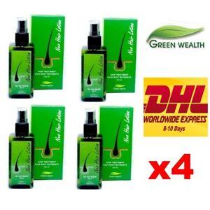 4 x Neo Hair Lotion Treatment Root Nutrients Beard Longer Sideburns Herb 120 ml