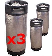 3x19L 2nd Hand Pin Lock Kegs Cornelius Homebrew Beer, Kombucha, Cold Brew Coffee