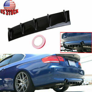 """Universal Car Auto Shark Carbon Fiber Style Fin Rear Roof Spoiler Wing 22.83"""""""