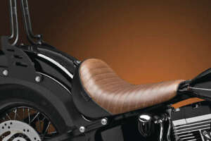 Le Pera - LKS-007BRNPT - Bare Bones Solo Seat, Brown Pleated Vinyl